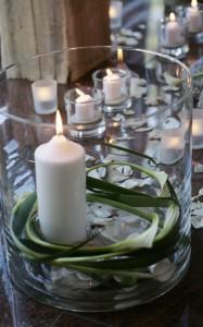 Edle Dekoration für Trauerfeier